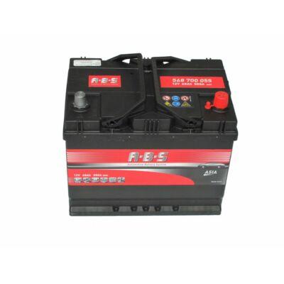 ABS 12v 68ah autó akkumulátor jobb+ *ázsia (568700055)