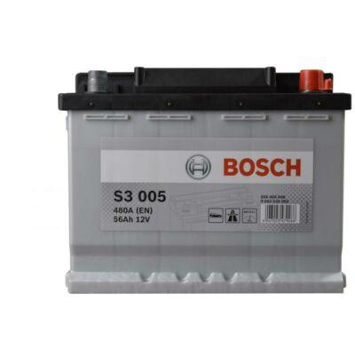 Bosch S3 - 12v 56ah - autó akkumulátor - jobb+ (0092S30050)